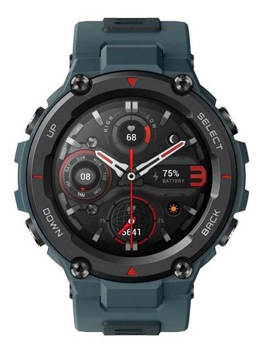 """Imagen 1 de 5 de Smartwatch Amazfit Sport T-Rex Pro 1.3"""" caja 47.7mm de  policarbonato  steel blue malla  steel blue de  silicona A2013"""