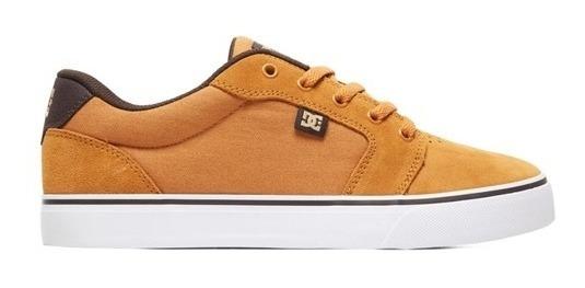 Tênis Dc Shoes Anvil La Marrom Original Lançamento
