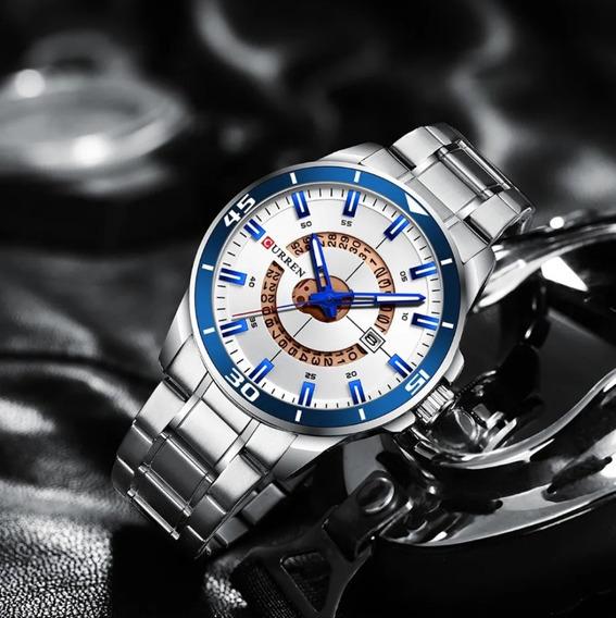 Relógio Masculino Esportivo Alto Padrão A Prova Dágua Aço!