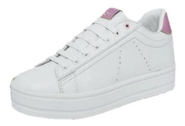 Zapato Tenis Blanco Agujeta Dama