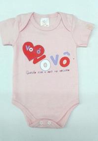 Body Bebê Frase Guardo Vovó E Vovô No Coração