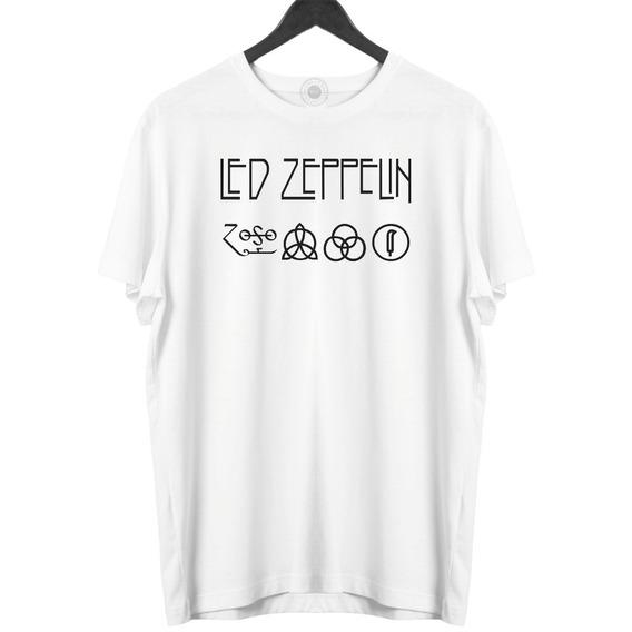 Camisa Camiseta Masculina Led Zeppelin Símbolos Banda Rock