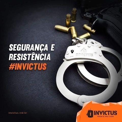 Algema De Corrente Policial Com Trava Original Invictus