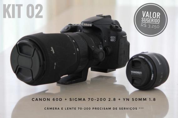 Canon 60d (kit) Sigma 70-200 2.8 + Yn 50mm