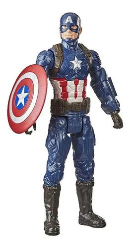 Imagem 1 de 5 de Capitão América Boneco Marvel Titan Hero 30cm Hasbro F1342
