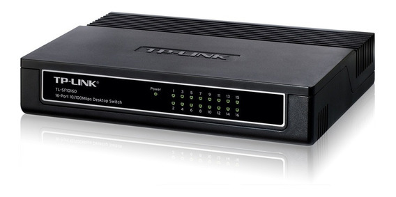 Switch Hub 16 Puertos Tp Link Tl Sf1016d 10/100 Mbps Cuotas