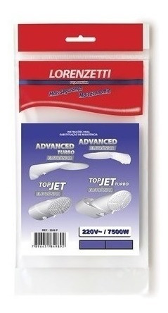 2 Resistência Lorenzetti Advanced - Turbo - Topjet 220v 7500