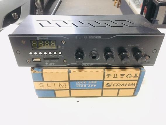 Amplificador Receiver De Som Ambiente Frahm Slim 1000 App