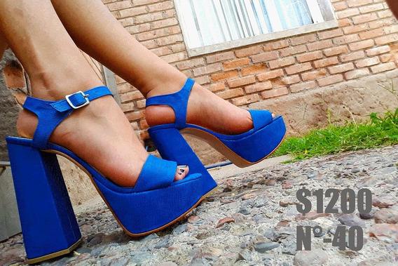 Zapatos -sandalias Mujer Oropaco Azul
