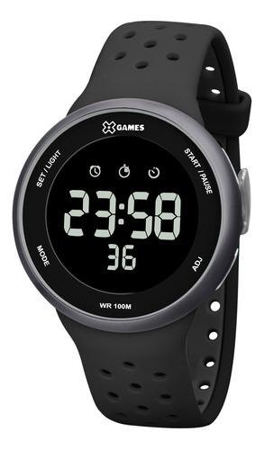 Relógio Masculino Digital Azul X-games Silicone Original +nf
