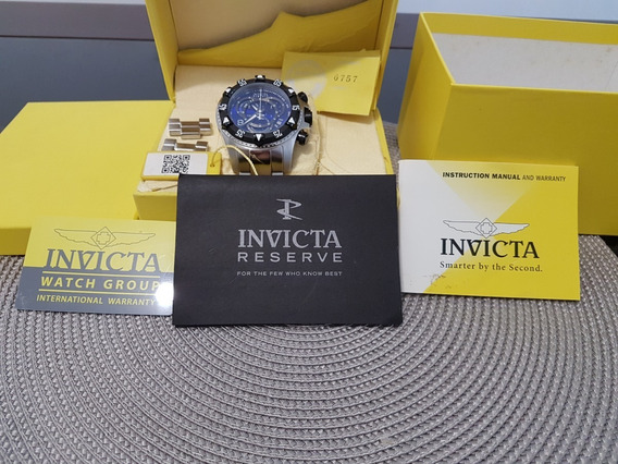 Relógio Invicta Resirve Fundo Azul