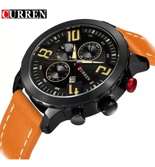 Relógio Barato Masculino Curren 8193 Calendário Original
