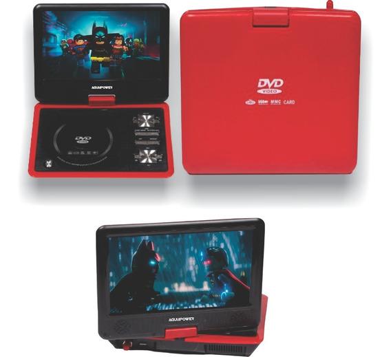 Dvd Portatil 9,5 - Tv Digital - Vermelho