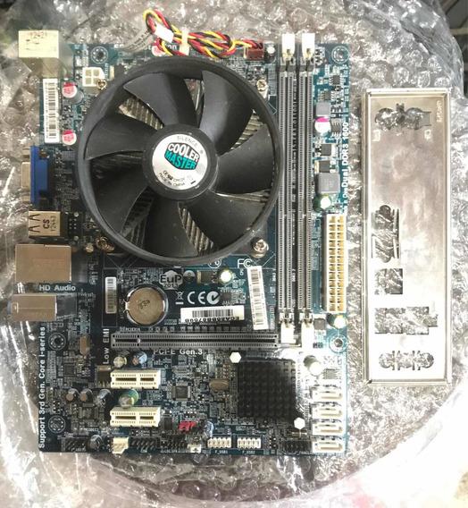 Placa Mãe 1155 Com Processador I3 Defeito