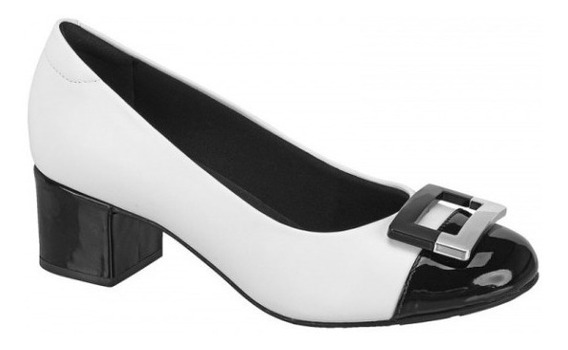 Sapato Modare Ultraconforto Salto Médio Preto/branco 7316107