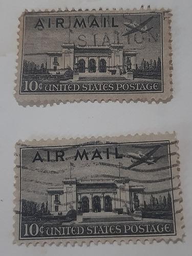 Imagem 1 de 2 de Selo Air Mail 1947 Antigo Uso Raro