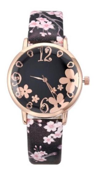 Reloj Dama Flores Femenino Colorido
