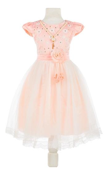 Vestido Importado De Nena Con Tull Super Delicado Para Fiesta Comunion Cumpleaño Eventos Fotografia Talle 4,6,8,10