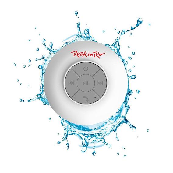 Caixa De Som Bluetooth Acqua Branco Resistente À Água