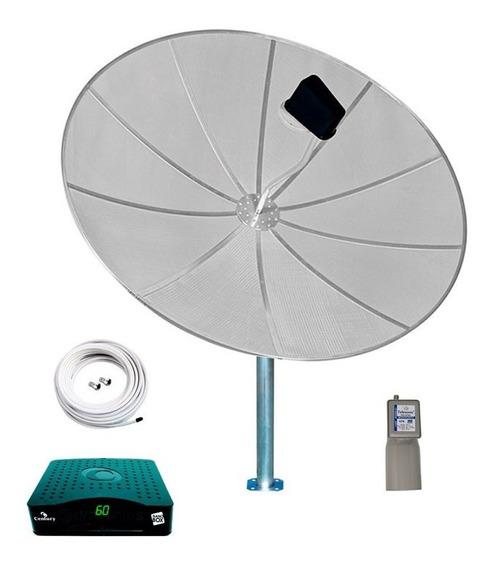 Antena Parabólica 1,70 Completa Receptor Century Analógico