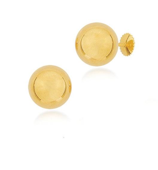 Brinco De Ouro Infantil De Bolinha - Ref: Br0005xx