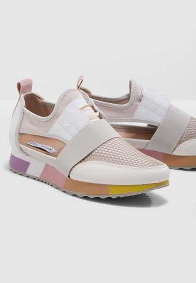Tenis Steve Madden Arctic Abierto Blanco Rosa Sold Out