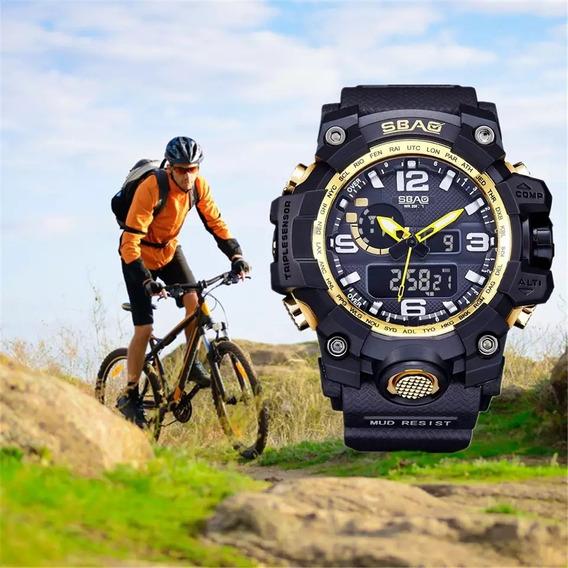 Relógio Militar Esportivo Original Sbao A Prova D