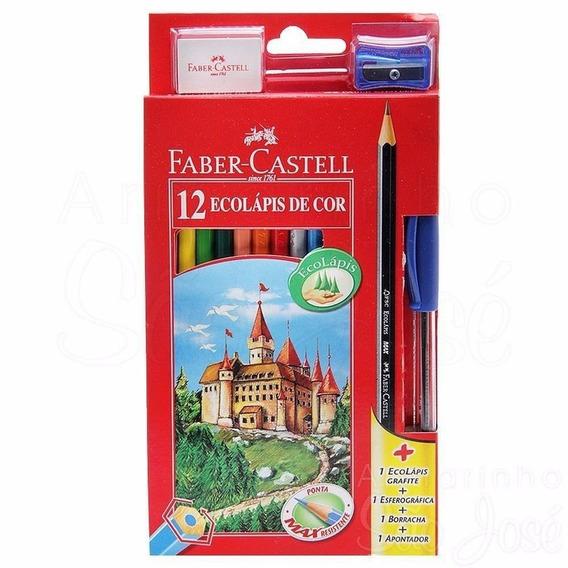 6 Caixas Lápis De Cor Faber-castell Kit 12 Cores Atacado
