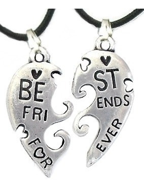 Super Promoção Colar Best Friends Melhor Amigo Cara Metade