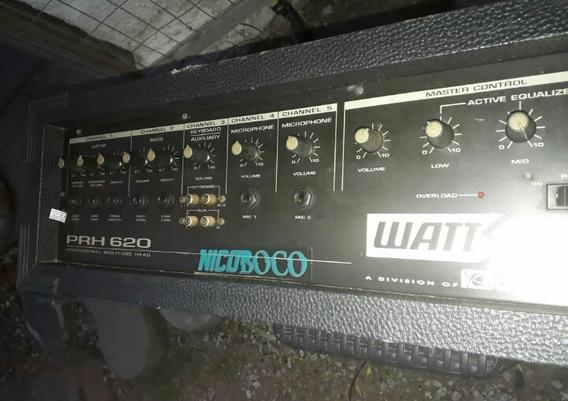 Amplificador Wattsomciclotron Prh 620 +brinde 2caixa Psr 620