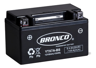 Bateria Moto Bronco Ytx7a-bs Gel Motoscba