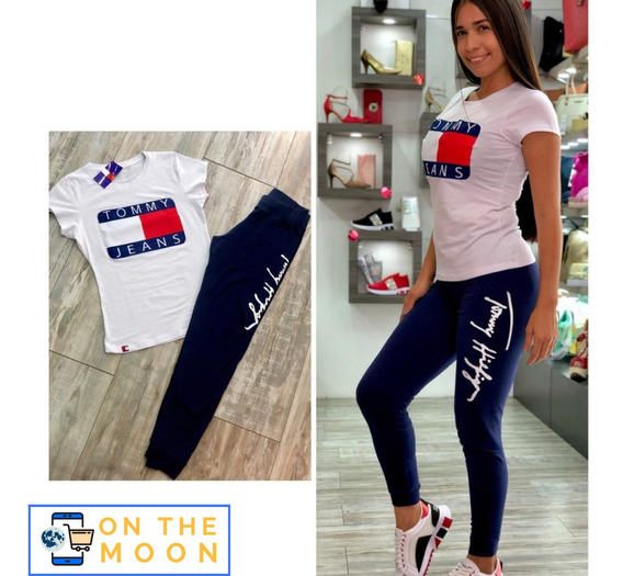 Conjunto Deportivo Mujer Licra Camiseta (tommy, Boss, Gucci)