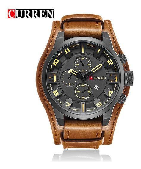 Relógio Curren Masculino Importado Orig 8225 Pulseira Couro
