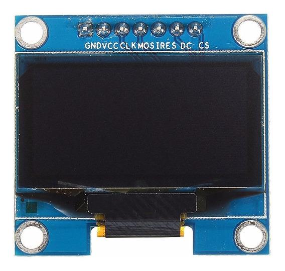 Display Oled 128x64 0.96 Spi Azul Amarelo Arduino - 0280