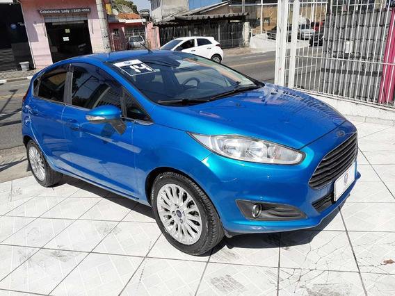 Ford New Fiesta Hatch 1.6 Titanium Completo 2014 Azul