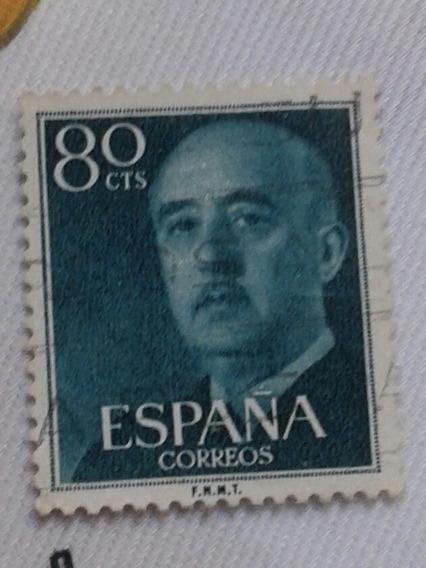 Estampilla España. Franco