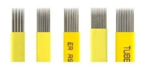Imagem 1 de 5 de Laminas Tebori Double Dupla Microblading Para Esfumar 10 Uni
