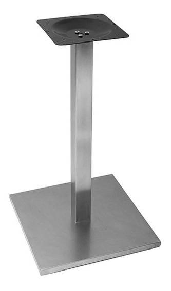 Base De Mesa Inox Quadrada Para Tampos De Até 100cm Or 2201