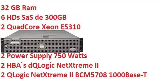 Servidor Dell Poweredge 2950 2x Quad - 32gb 1.8 Tb De Hd Sas