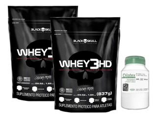 2x Whey 3hd 837g Black Skull + Dilatex 152 Cáp Power Supplem