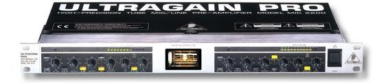Processador De Mic Valvulado Behringer Ultragain Pro Mic2200