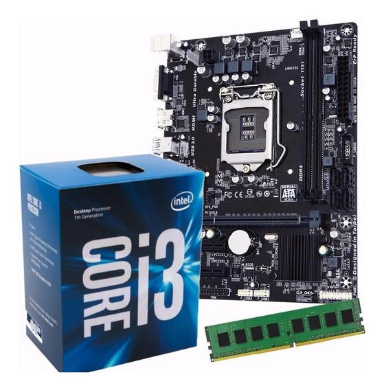 Combo Actualizacion Pc Intel I3 8100 Mother H310 8gb Ddr4 Hd