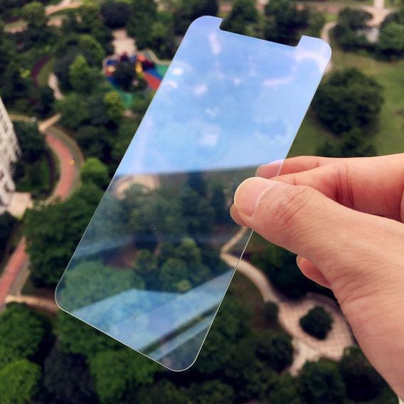 Protetor Tela Filme Vidro Temperado Para iPhone X, Azul