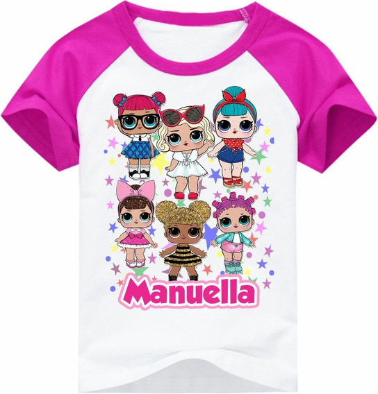 4 Blusinhas Infantil Meninas Boneca Lol Surprise