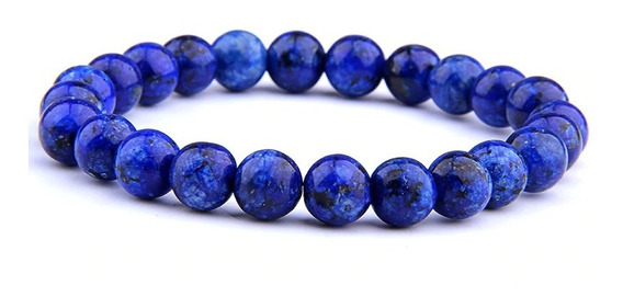 Pulseira Masculina Pedra Lapis Lazuli
