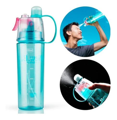 Imagen 1 de 8 de Botella De Agua Spray Atomizador Gym Fitness Deportivo Termo