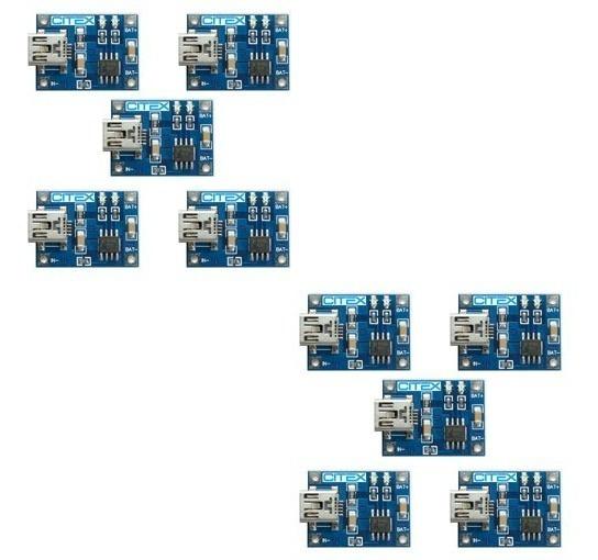 10 Peças Tp4056 4056 Tc4056a Mini Usb Carregador Bateria