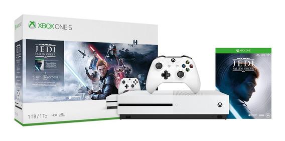 Console Xbox One S 1tb +1 Controle E Jogo Star Wars