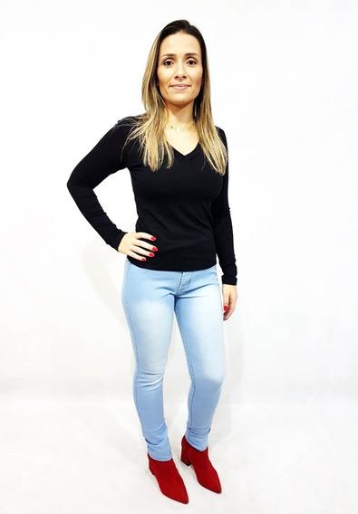 2 Calça Jeans Feminina Do 36 A 58 Plus Size Skinny Com Lycra