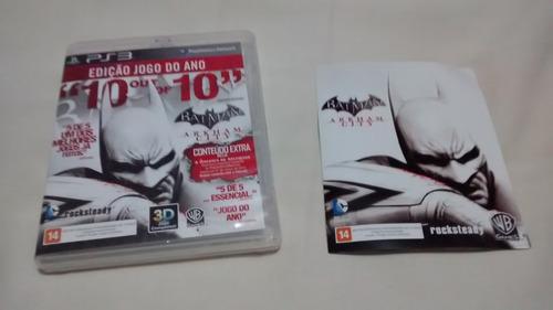 Batman Arkhan City Original Midia Fisca Ps3